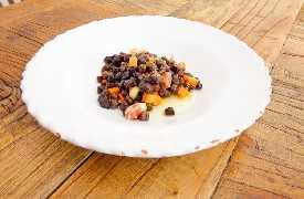 Primo piatto legumi Osteria Botteghe Antiche Putignano