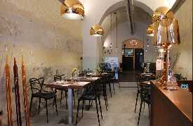 Panoramica sala a pranzo Sottosale Hostaria Italiana Arezzo