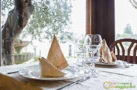 Dettaglio tavolo Ristorante L'Olmo Bello Alberobello Bari