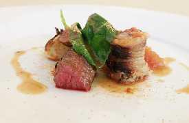 Cilindri di carne Osteria Frangipane Trani