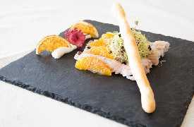 Canocchie e arancia  Ristorante Zi Rosa Riccione