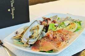 Crudo di pesce Sottosale Hostaria Italiana Arezzo