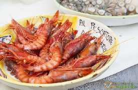 Gamberi rossi freschi Ristorante Al Pescatore Bari foto 2