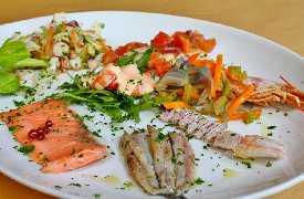 Antipasto  freddo di pesce Ristorante Pizzeria L'Anfora Cattolica