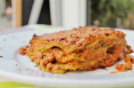 Lasagne alla bolognese Ristorante Le Crescentine di Novella Riccione