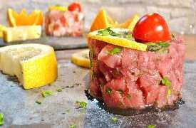 Tartare di pesce Ristorante Il Vesuvio Arezzo