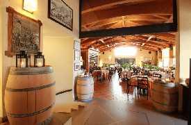 Botti in sala Ristorante La Fratta San Marino