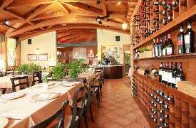 Parete di vini Ristorante La Fratta San Marino