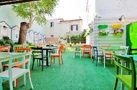 Tavoli in ''giardino''  Ristorante Pizzeria L'Anfora Cattolina