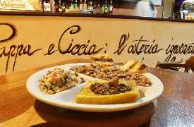 Fagioli farro e polenta Osteria Pappa e Ciccia Rimini