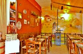 Panoramica sala da pranzo Osteria Pappa e Ciccia Rimini