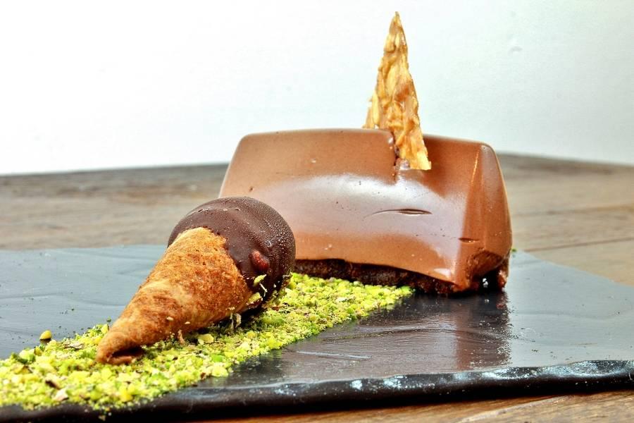 Dessert Gianduiotto Ristorante Il Cuciniere Fano