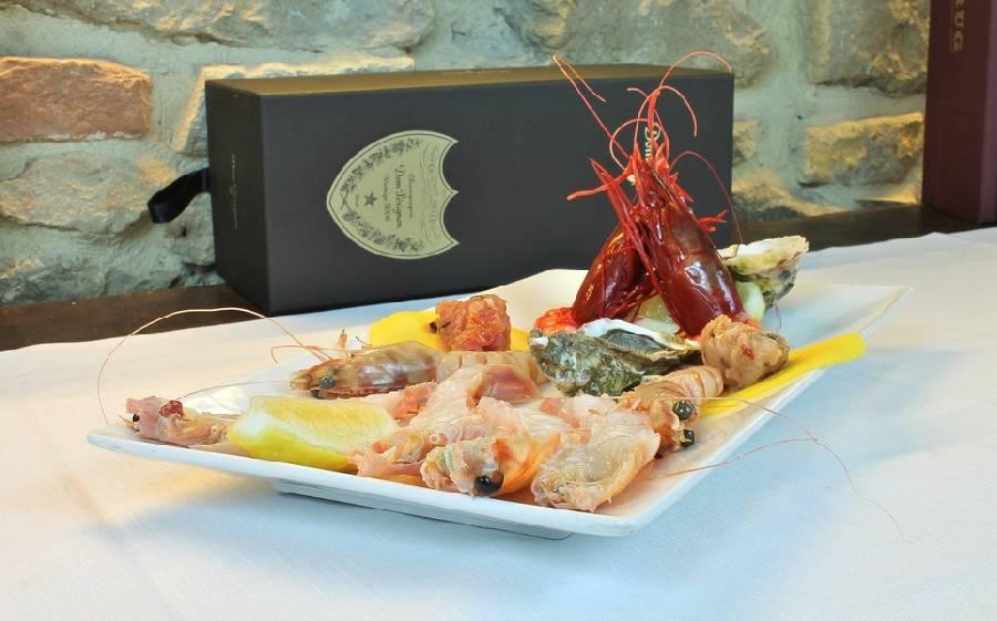 Cruditè di pesce Sottosale Hostaria Italiana Arezzo