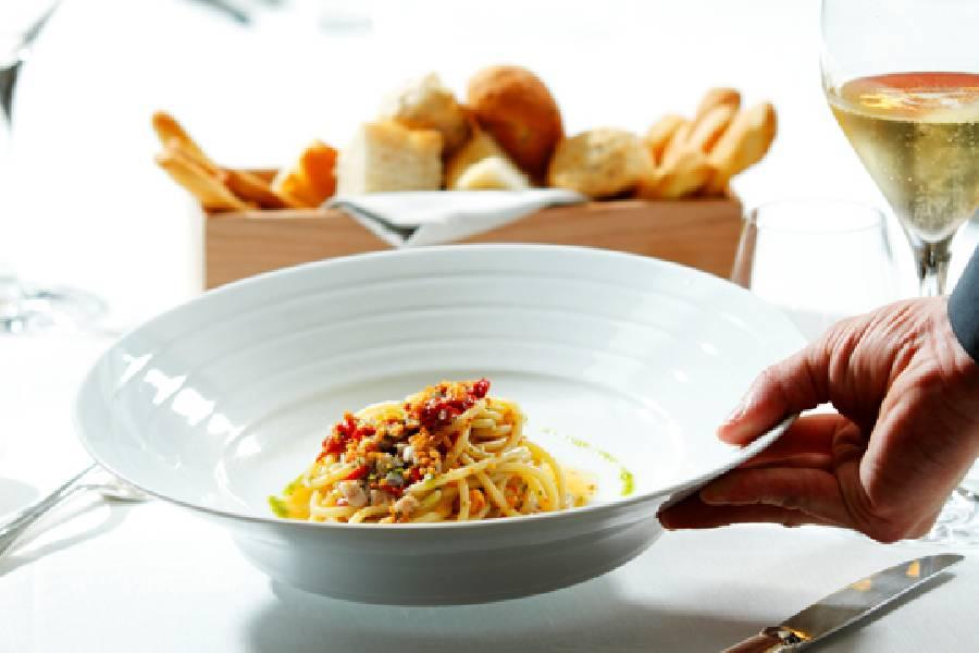 Spaghetti gourmet Ristorante Al Cambio Bologna