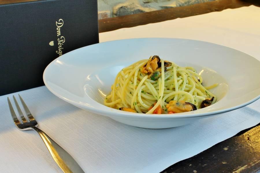 Spaghetto ai frutti di mare Sottosale Hostaria Italiana Arezzo