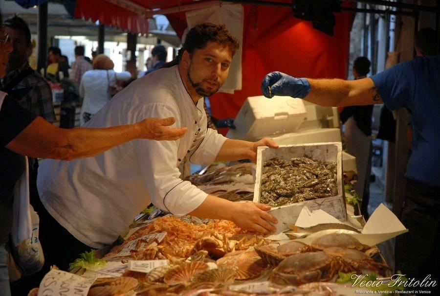 Pesce sempre fresco Ristorante Vecio Fritolin Venezia