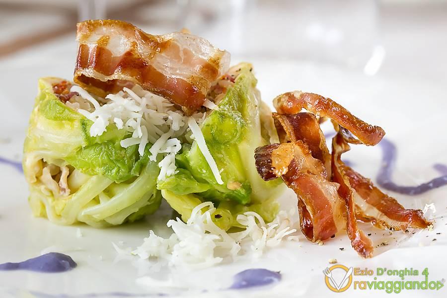 Antipasto pancetta e  verdura Ristorante U Curdunn Locorotondo Bari