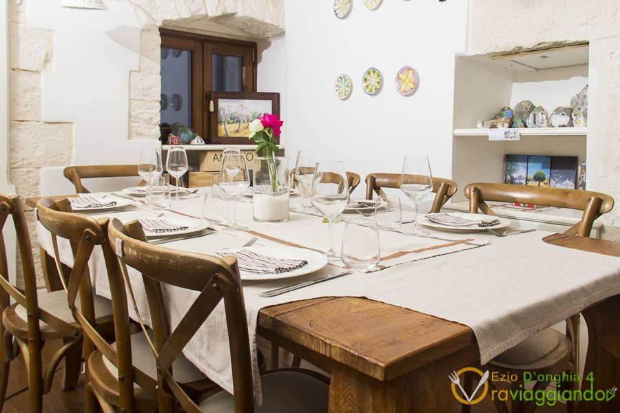 Dettaglio tavolo Ristorante U Curdunn Locorotondo Bari