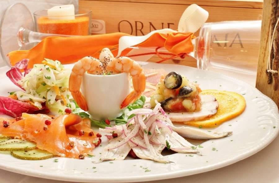Antipasto di pesce Ristorante Taverna del Ghiottone Fano