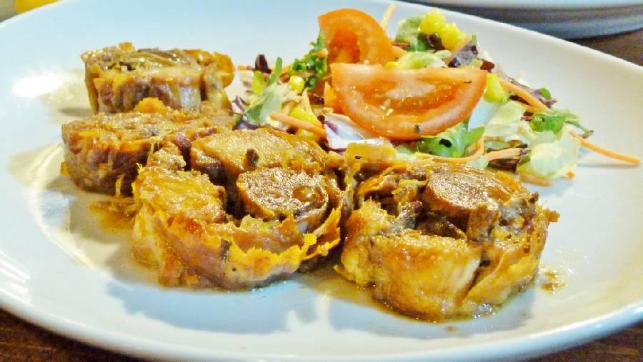 Piatto unico carne e insalata Osteria Pappa e Ciccia Rimini
