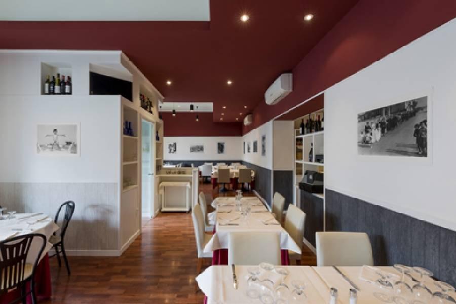 Panoramica sala da pranzo Da Marcone trattoria conviviale Milano