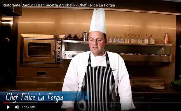 Ristorante Carducci Bari Ricetta Arcobalik - Chef Felice La Forgia